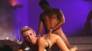 Interracial Couple Doing Anal Bang