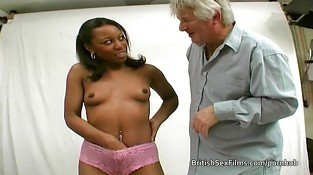 Ebony amateur filmed at real porn