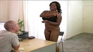 Casting BBW Ebony girl for creampie