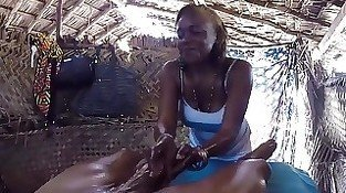 Blowjob in an african hut