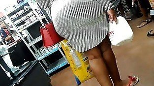 Bbw ebony with vpl dress